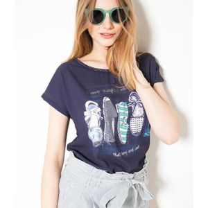 T-SHIRT Camaieu - T-shirt femme imprimé espadrilles TESPAD