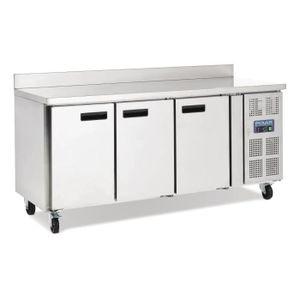 BUFFET RÉFRIGÉRÉ  Table réfrigérée 3 portes avec dosseret 417L Polar