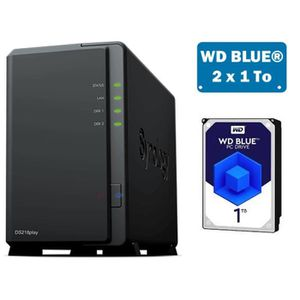 SERVEUR STOCKAGE - NAS  Synology DS218PLAY Serveur NAS WD BLUE 2To