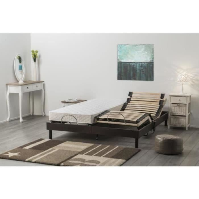 adagio ensemble matelas sommiers 2x80x200cm 14cm mousse. Black Bedroom Furniture Sets. Home Design Ideas