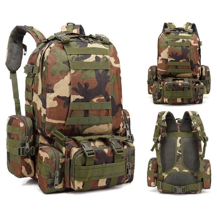 55L Molle Outdoor Bag Camping Randonnée Trekking Sac à dos BRF90606009E_7274