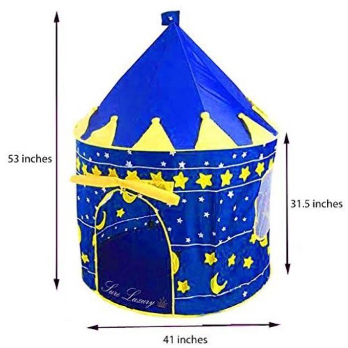 Tente de jeux en plein air pour enfants Blue Castle Playhouse pour enfants Grand cadeau pour garçons et filles Sure Luxury by Sure L