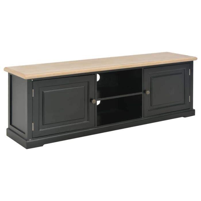 Meuble télé buffet tv télévision design pratique noir 120 cm bois 2502205
