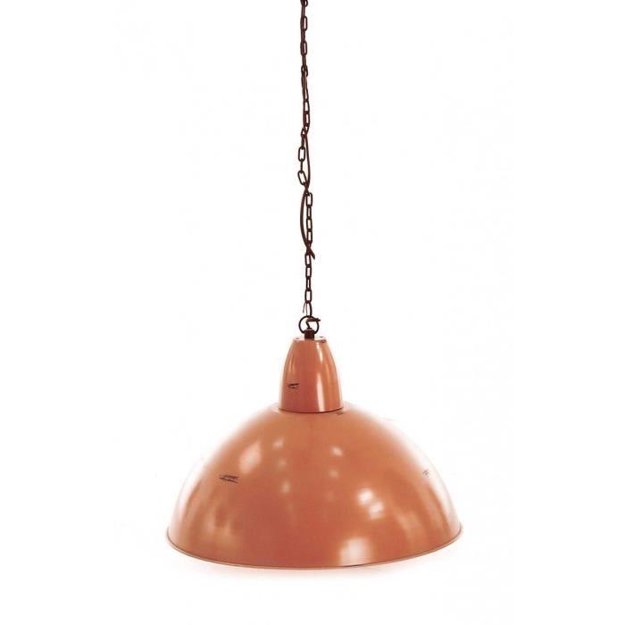 Suspension métal orange Loft