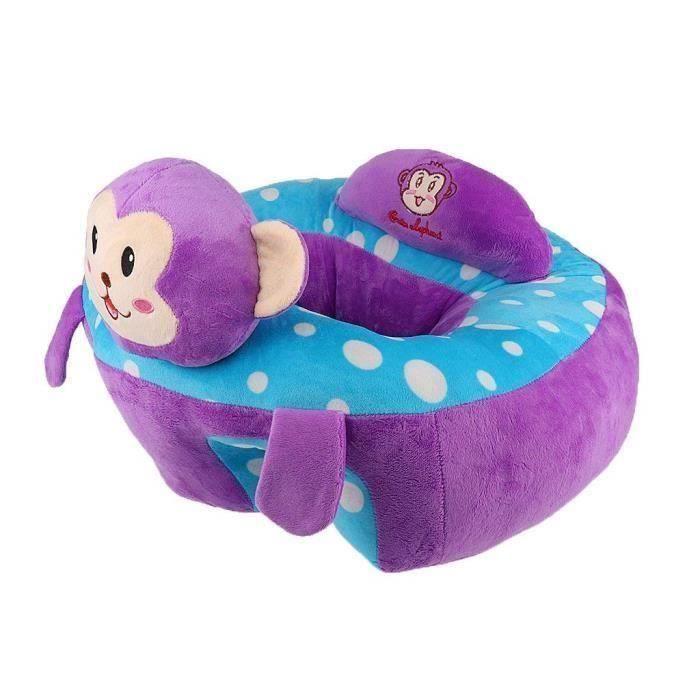 Soutien Siège Canapé Bébé En Peluche Repas Activité Jouet Pleche Animal - Singe violet