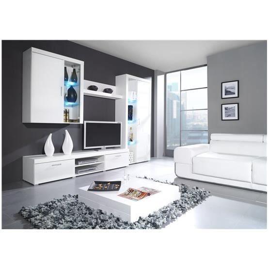 Meuble tv mural design MAMBA II blanc