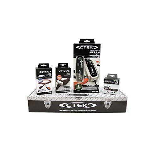 CTEK MXS3.8 (56-309) Toolbox Set avec Chargeur de Batterie et accessoires - MXS3.8 (56-309)