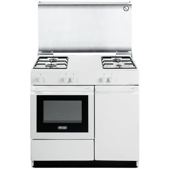DeLonghi SGW854N, Cuisinière, Blanc, Rotatif, Cuisinière à gaz, acier émaillé, Moyenne