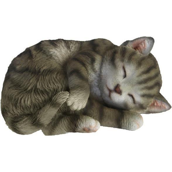 Esschert Design statue chaton 14,9 cm gris polyrésine
