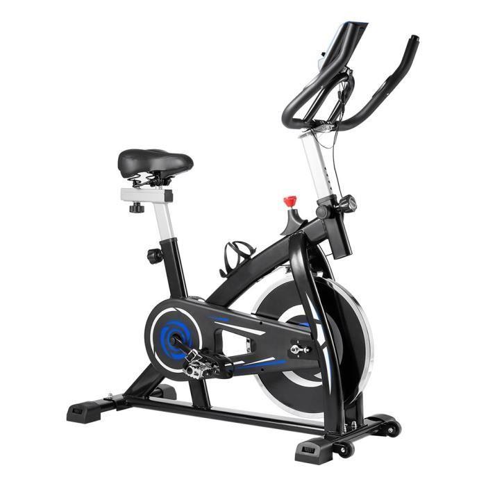 Vélo d'appartement YS-S05 Vélo biking avec accessoires et outils à courroie réglable Sport avec moniteur numérique - Rouge