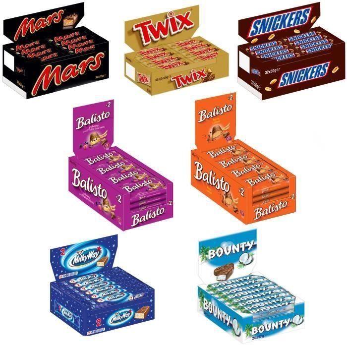 Mars assortiment carton, barres de chocolat