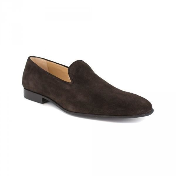 Slipper J.Bradford Cuir Marron JB-MAXIME - Couleur - Marron
