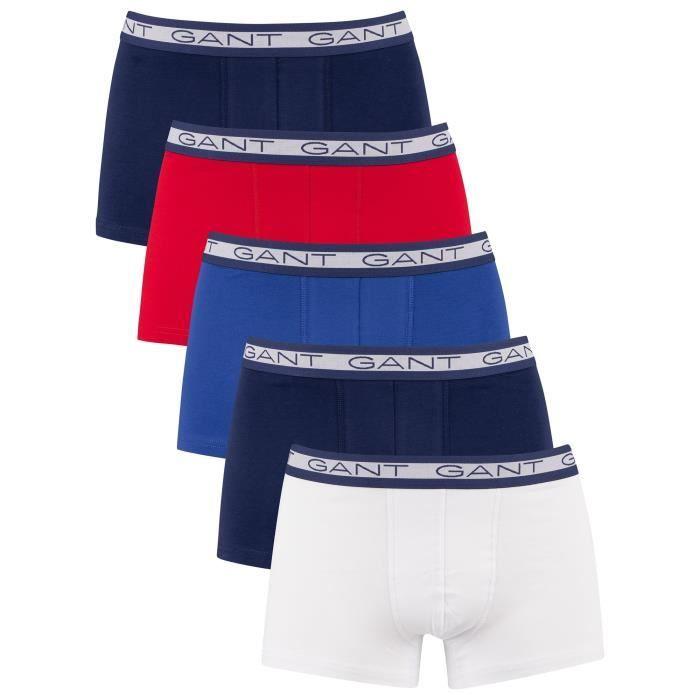 GANT Lot de 5 boxers basiques, Multicolore, Homme