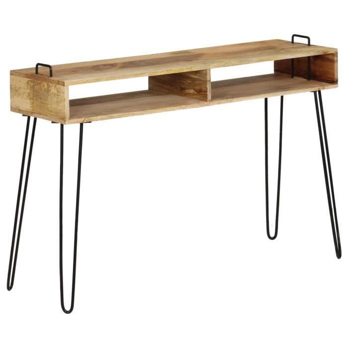 Table console-Table d'Appoint Salon Bois de manguier massif 115 x 35 x 76 cm