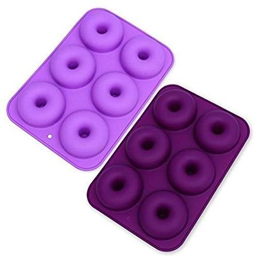 ^^1582& 2PCS Moulessilicone Moule à Donuts et Babas, FineGood Pteaux Décolble en Silicone pour Gâtea#Résistant à Chaleur#BCD`883