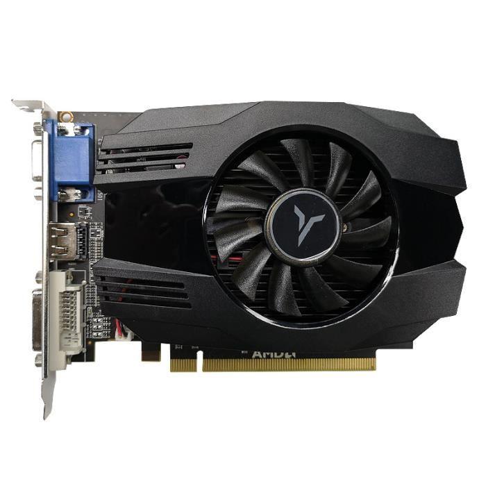 Yeston Carte Graphique R5 240-4G D3 VA Carte Graphique DirectX 11 4 Go - 64 Bits 1333 MHz 2 Phases GPU Basse Consommation