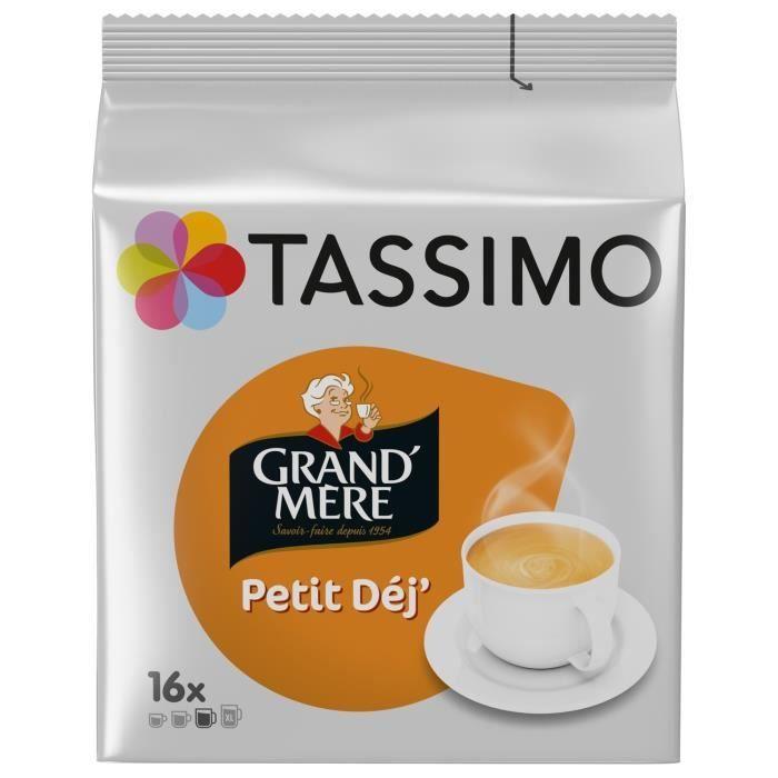 LOT DE 4 - TASSIMO Petit Déj' Café dosettes - 24 dosettes de 8,3 g