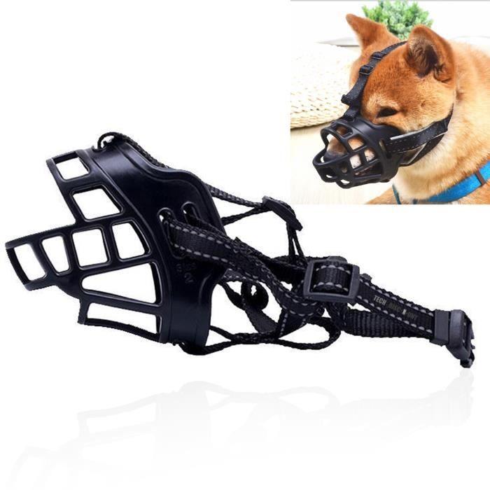 TD® Muselière chien baskerville malinois réglable morsures chat animaux de compagnie anti aboiement respirant sangle universel