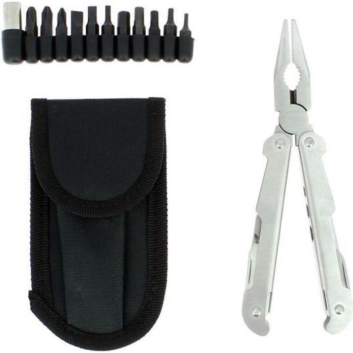 Pince 25 multifonctions avec pochette-ceinture et embouts inclus - Redcliffs outdoor gear