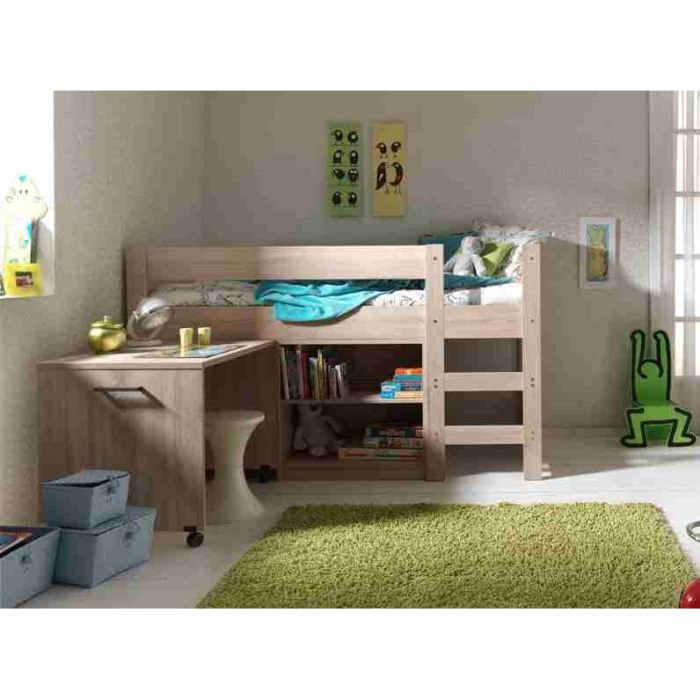 aline lit enfant multifonction 90 x 200 cm ch ne achat. Black Bedroom Furniture Sets. Home Design Ideas