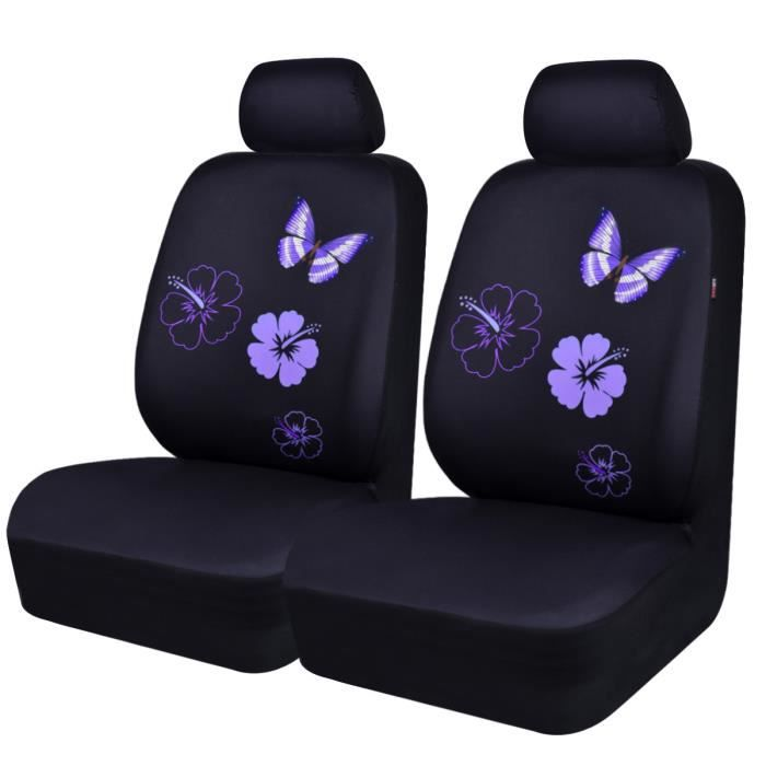 car pass housse de si ge voiture avant universelle design de papillons et fleurs compatible. Black Bedroom Furniture Sets. Home Design Ideas