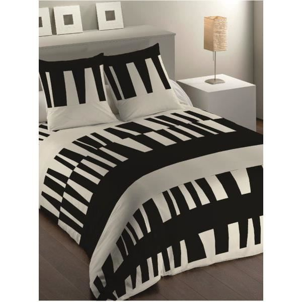 housse de couette 220x240 cm microfibre ruben blanc 2 taies d oreiller 63x63 cm achat. Black Bedroom Furniture Sets. Home Design Ideas