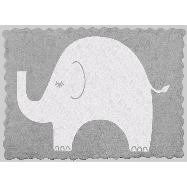 tapis enfant gris elephant achat vente tapis cdiscount. Black Bedroom Furniture Sets. Home Design Ideas