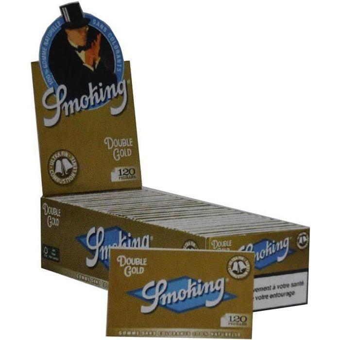 2 boites de  25 Carnets De 120 Petites Feuilles à Rouler Smoking Gold Regular
