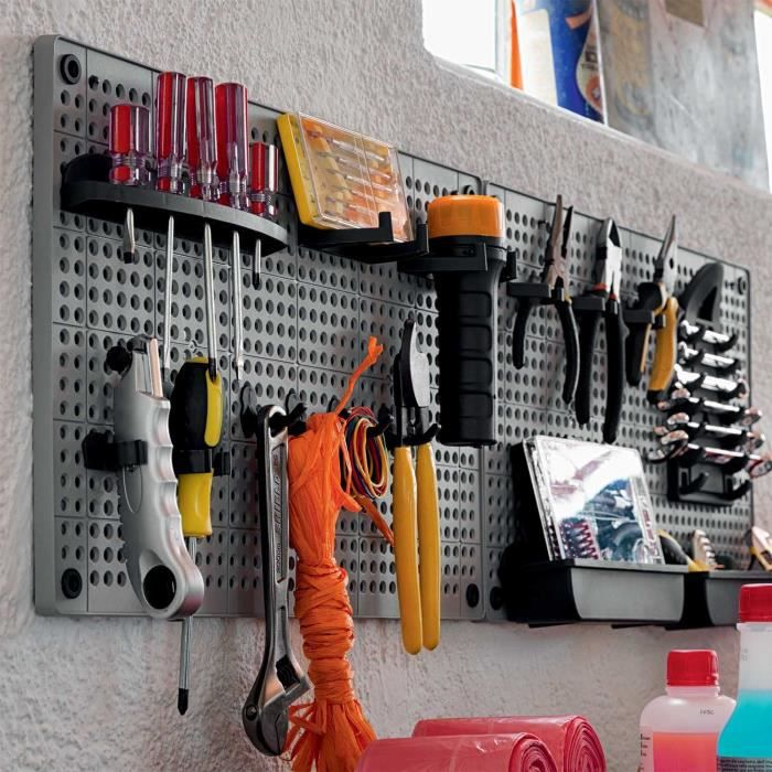 porte outils mural. Black Bedroom Furniture Sets. Home Design Ideas