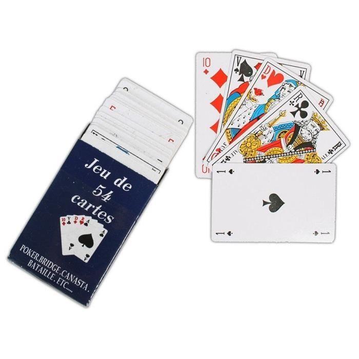 Jeu de cartes Canasta-Poker-Bridge 2x55 Feuille