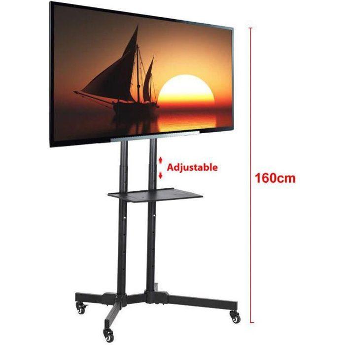 Support Mural Tv Yaheetech Sur Pied Chariot Reglable Pour Ecrans Lcd Led Plasma De 32 A 65