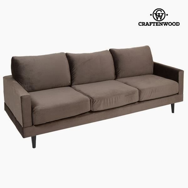canap 3 places velours taupe achat vente canap