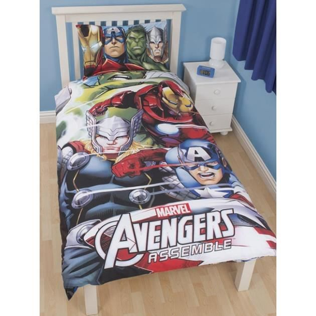 avengers parure de lit housse de couette r achat. Black Bedroom Furniture Sets. Home Design Ideas