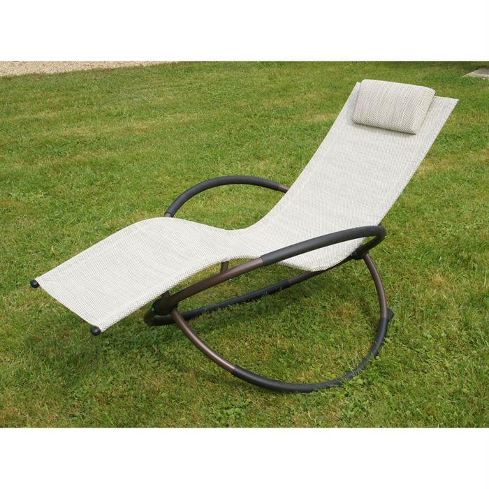 bain de soleil swing beige achat vente chaise longue. Black Bedroom Furniture Sets. Home Design Ideas