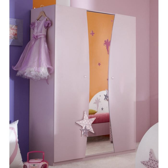 armoire fairy lilas chambre enfant achat vente armoire. Black Bedroom Furniture Sets. Home Design Ideas