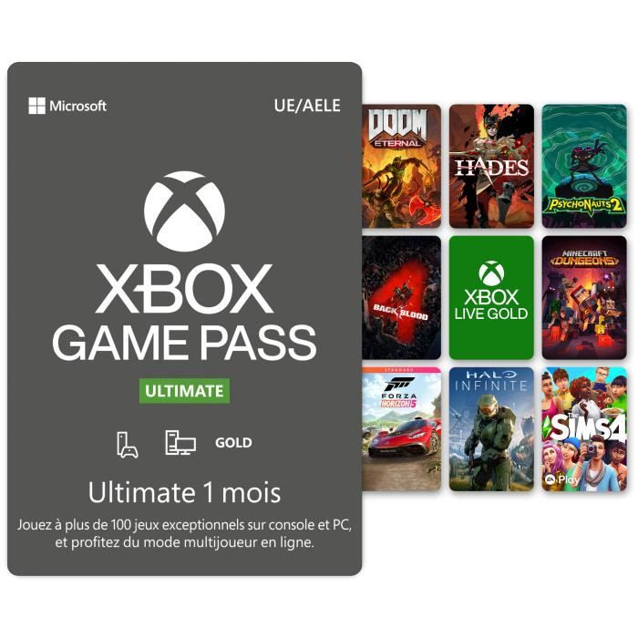 ABONNEMENT Abonnement Xbox Game Pass Ultimate 1 mois - code d