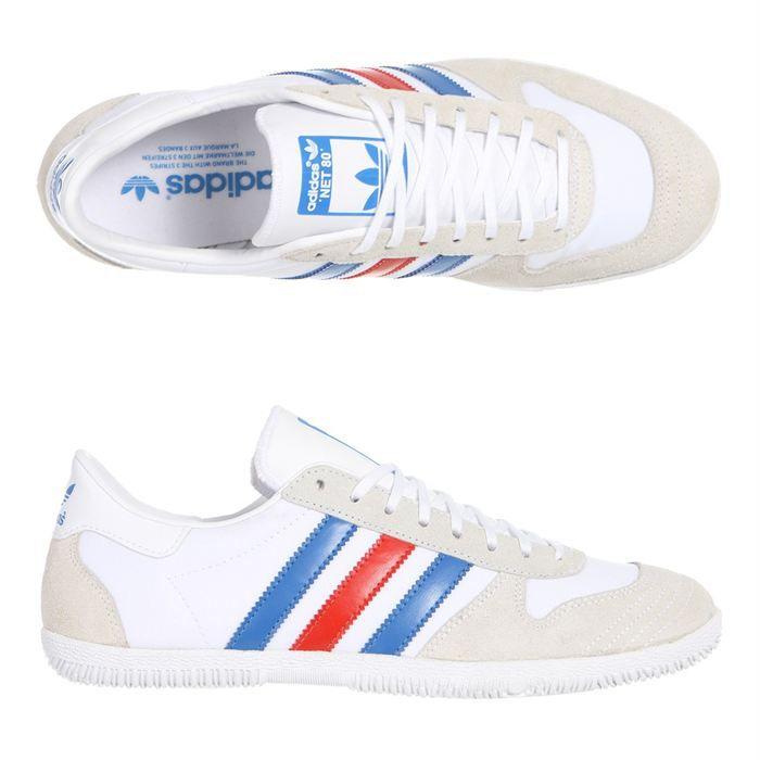 sneakers adidas homme blanc et bleu
