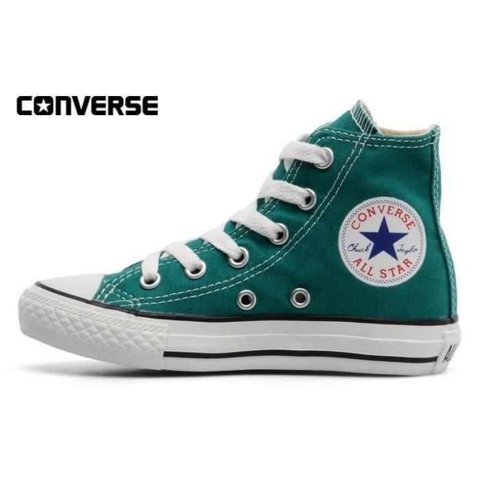 chaussures femme converse haute vert
