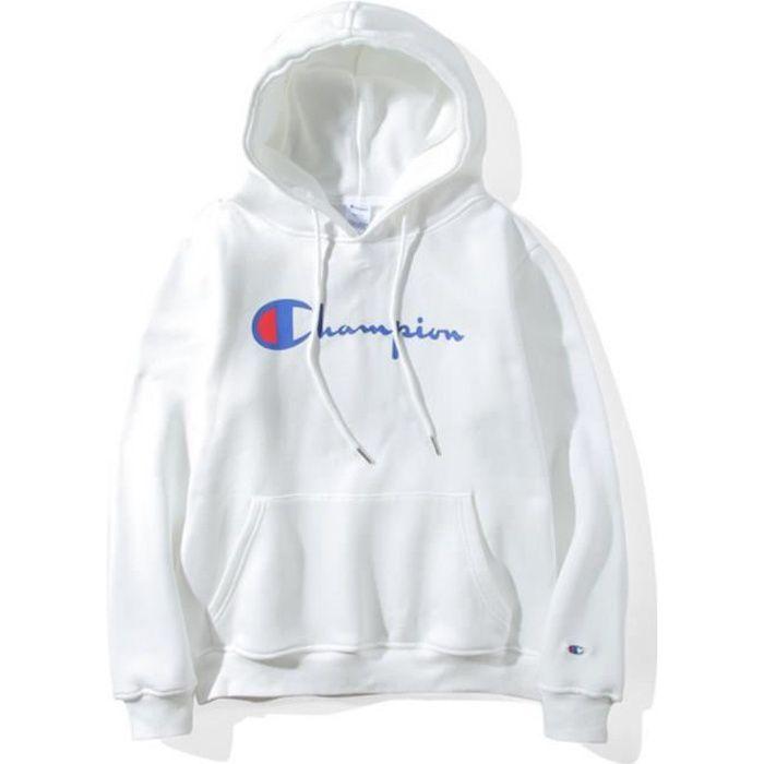 hoodie champion homme blanc