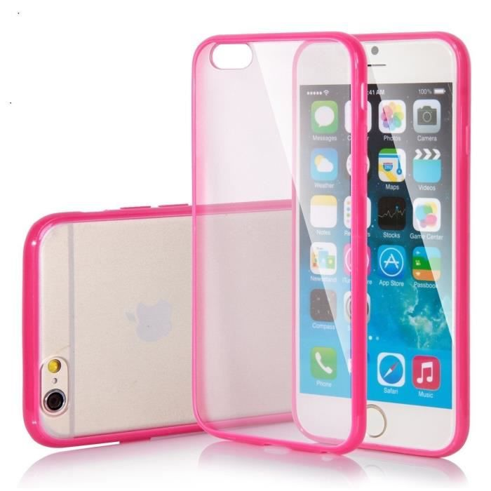 coque transparente rose iphone 7