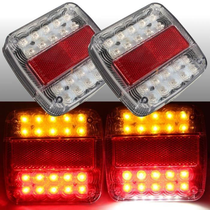 Feux darret LED LED reflecteur arriere rouge queue frein arret pour camionnette remorque SUV moto SODIAL R