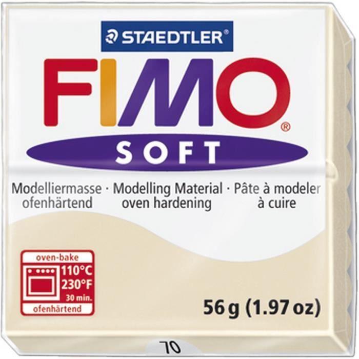 JEU DE PÂTE POLYMÈRE STAEDTLER Pâte à modeler à cuire Fimo Soft bloc 56