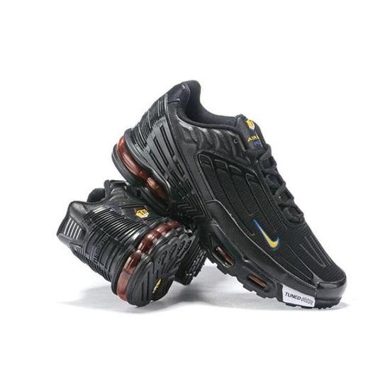 Baskets Nike Air Max Plus Tn 3 Chaussure pour Homme Noir Noir ...