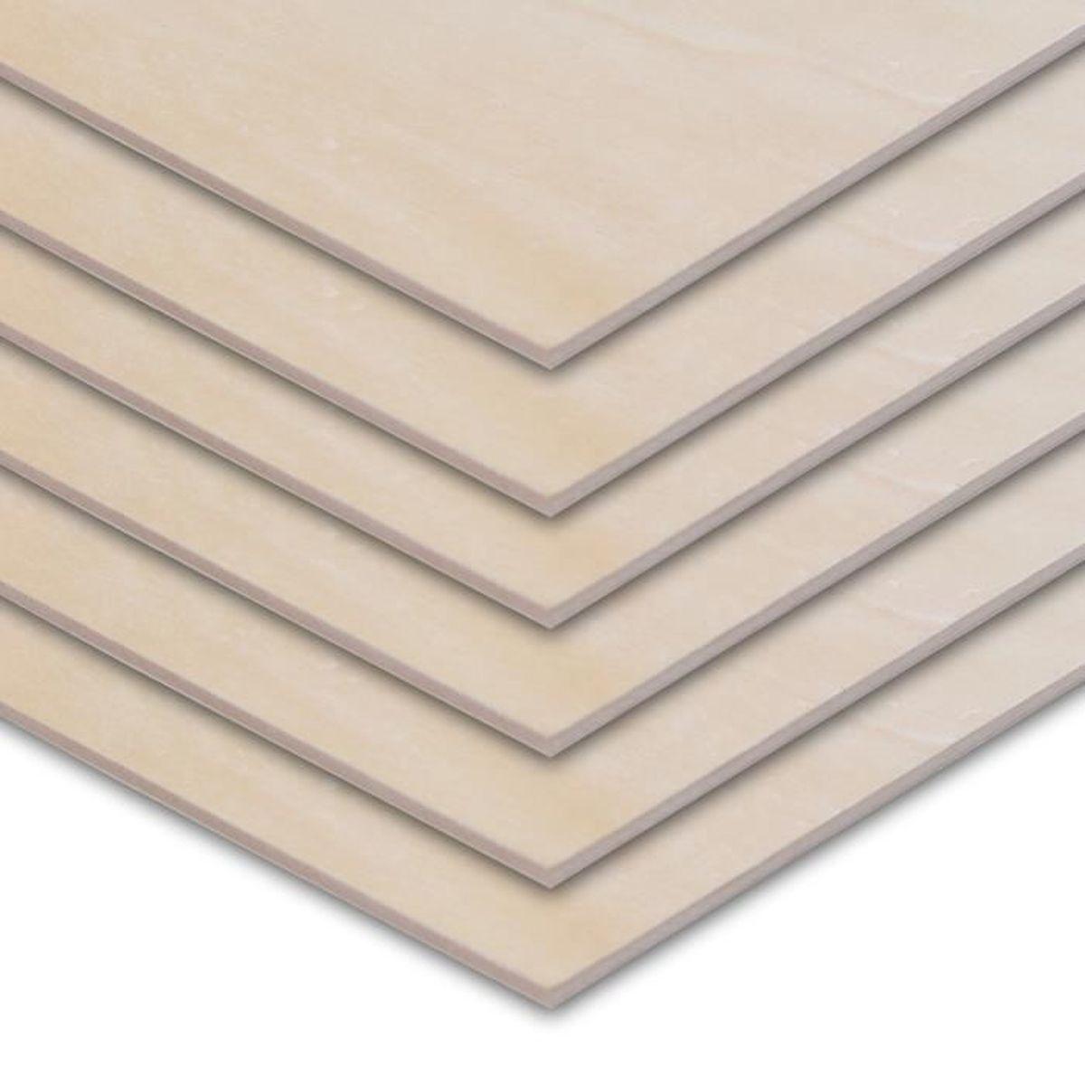 Ecrire Sur Panneau Bois panneau bois de bouleau contreplaqué 2mm (lot de 20) - plaque bois 30 x 30  cm - parfait pour la gravure au laser, la pyrogravure