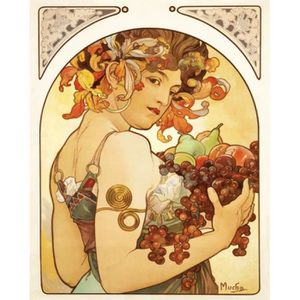 Alphonse mucha tableau achat vente alphonse mucha for Poster sur toile