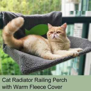 CORBEILLE - COUSSIN Lit de radiateur pour chat Perche de balustrade po