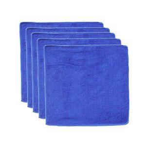 5 Pièce Haute Performance Micro Fibre Microfibre Chiffon chiffon à lustrer torchons Bleu