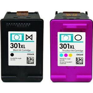 CARTOUCHE IMPRIMANTE Pack 2 cartouches type HP 301 XL noir et couleur