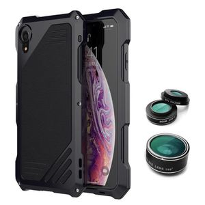 COQUE - BUMPER Camera Lens Boîtier métallique étanche dur hybride