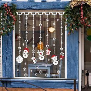 VILLAGE - MANÈGE 60 * 90cm fenêtre de Noël Snowball amovible Accuei